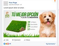 Diseño de Anuncio para Facebook | PipiGrass Colombia