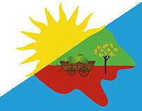 Bandera Municipio de Alba Posse