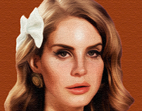 Lana Del Rey Oil Paint