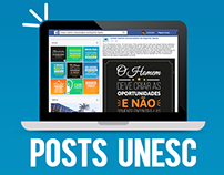 Posts para a página da UNESC no Facebook