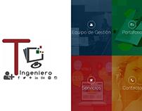 Tuingeniero, Sitio web realizado en Yii Framewor