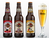 Diseño de etiqueta de Cerveza Harlow