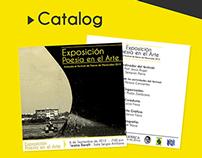 """Poster & Catalog: Art Exhibition """"Poesia en el Arte"""""""