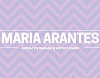 Portfólio de Mídias Sociais - Maria Arantes