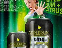 Folheto e Outdoor Apple Rum Cinq