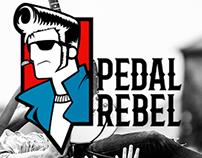 Pedal Rebel, Sound effects brand logo design.