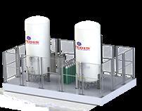 Sistema Criogénico suministro de Oxígeno Gaseoso
