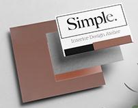 Identidad Corporativa: Simple. Interior Design Atelier