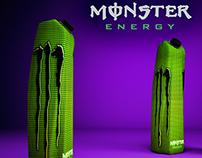 Monster Energy diseño de envase y etiqueta
