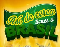Así de cerca tienes a Brasil