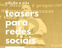 vídeos teaser para redes sociais