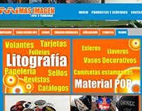 """Página Web de la empresa """"Más Imagen"""" en Bogotá."""
