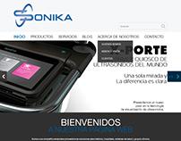 Sonika Web Mockups