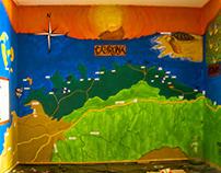 Mural Parque Nacional Natural Tayrona