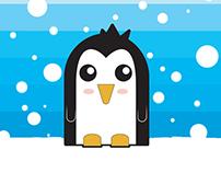Sticker pinguino