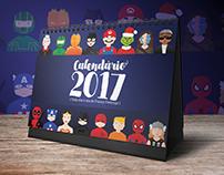 Calendário 2017 Personagens - Funny Feelings