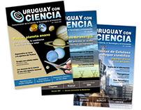 Diseño de logo y revistas de Uruguay con Ciencia