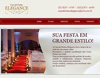 Layout do site - Casa de Festas Elegance - Home
