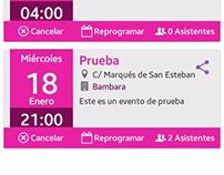 Busca tu lugar preferido, aplicación de eventos España.