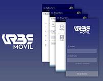 URBE - App UI redesign
