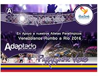 Flyer para promoción Paralympic Vibes