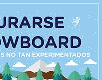 AVENTURARSE AL SNOWBOARD: Infografía para VIVÍ LA NIEVE