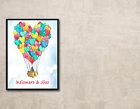Love in balloon