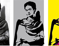 Frida Kahlo Vector pop art