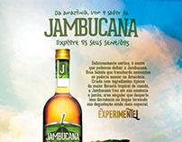 Anúncio Jambucana - Explore seus sentidos.