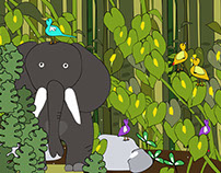 Ilustraciones para cuento infantil interactivo