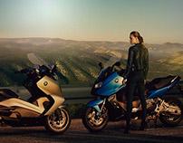 Retouching motorcycle
