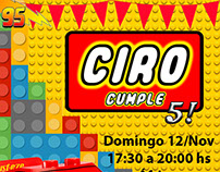 Lego-Cars Birthday Invitation