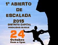 Afiche para el deporte de escalada