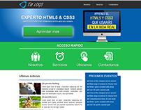 Pagina maquetada con HTML5 y Css3