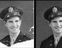 Inpainting militar | Restauración de foto