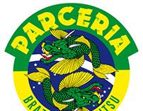 Logo & Material para escuela de Jiu Jitsu Parceria