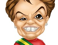 Caricatura - Dilma Rousseff (Salão do Humor)