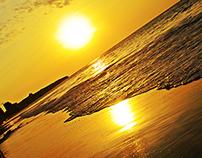Atardecer en Manta - Playa Murciélago