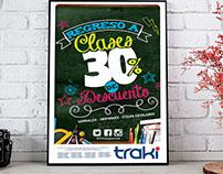 posters, descuentos, promociones para Traki