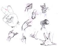 Treino Mãos Sketch Digitalizado