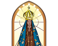 Ilustração de Nossa Senhora Aparecida