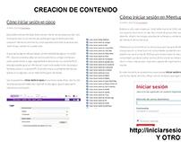 CREACION DE CONTENIDO