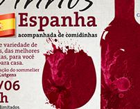 """Cartazes do Evento """"Degustação de vinhos"""" SÂO BENTO"""