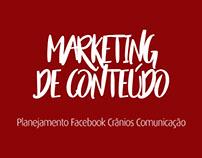 Planejamento Facebook Crânios Comunicação