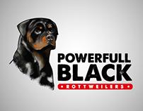 Desenvolvimento de Logo: Canil Powerfull Black