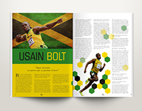 DISEÑO EDITORIAL - USAIN BOLT