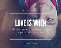 Love is when....