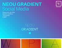 NEOU GRADIENT, social media