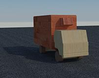 Dimensiones de Camión de Madera
