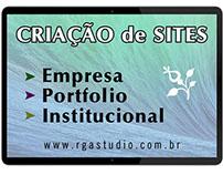 Criação de sites, empresas, portfolio, institucional